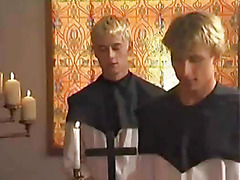 Hot priest banged in the butt