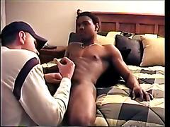 Home-Made interracial gay cock sucking