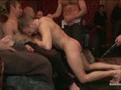 Guy gets repeatedly drilled