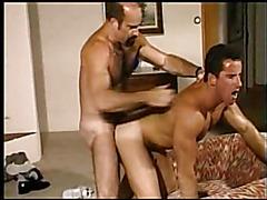 Daddy bear fucks muscular bottom