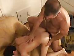 Mature fireman fucks gay cutie