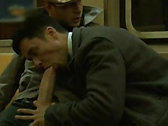 Considerable pecker oral sex on subway
