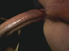 Gloryhole anal sex from behind